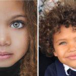 Niños que muestran que la belleza es mixta
