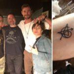 Celebridades cuyos tatuajes coincidieron con los de otras celebridades