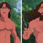 "Personajes animados dibujados ""de manera realista"""